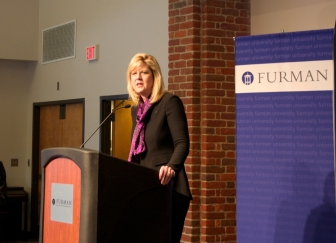 President-Elect Dr. Elizabeth Davis addressed the Furman community for the first time during her press conference Thurs. Feb. 6