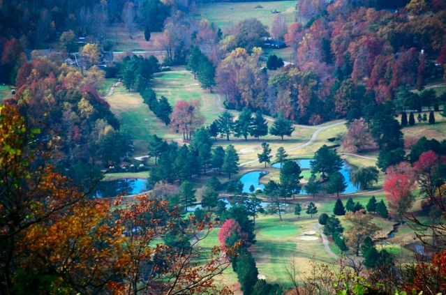 The view of Furman's golf course from Paris Mountain. Photo courtesy of Joe_Plocki, Flickr.com