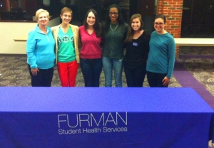 PHOKUS members pose for a photo after a weekly meeting focusing on the latest ways to inform Furman students through sex education. Photo courtesy of Haleigh Griffin