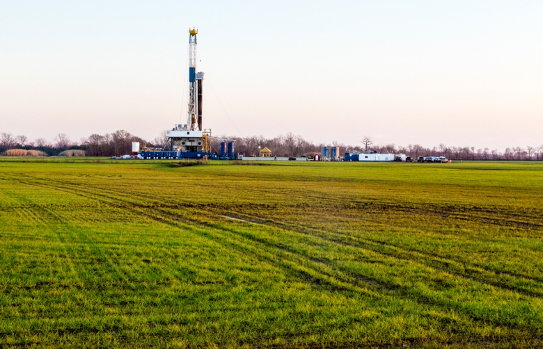 A fracking well near Shereport, Louisiana. Photo courtesy of Daniel Foster