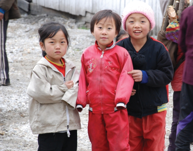 Children from the South Hamgyong province, North Korea. Photo courtesy of EU Humanitarian