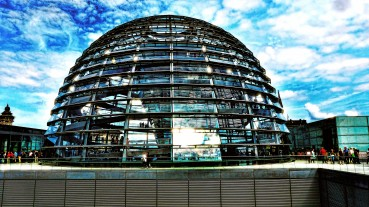 The Reichstag dome in Berlin is built with glass to remind people that the government should be transparent. PHOTO COURTESY OF MARIANO MANTEL