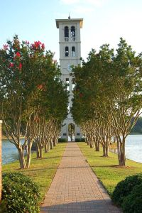 The Furman bell tower is one of the hallmarks of Furman's beautiful campus.