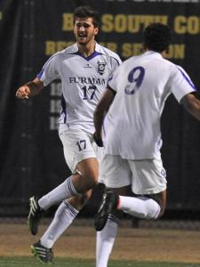 Lewis Hawke scored his first goal of the season helping the Paladins in the 1-1 draw against Seton Hall.