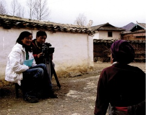 Researchers conduct video interviews with locals in Dapo village in China. This was from a previous research by Dr. Blumenfield.