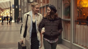 "Greta Gerwig and Lola Kirke star as Brooke and Tracy in the dream-chasing comedy, ""Mistress America."" Photo courtesy of Fox Searchlight Productions"