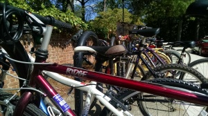 FUPD continues to face the challenge of bicycle theft on campus. The department started new policies in addition to impoundment to ensure registered bikes are secure. Photo courtesy of Kate Brokaw