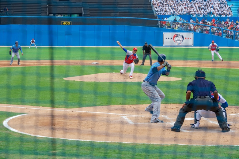 Cuban_National_Baseball_Team_Pitcher_Throws_Pitch_at_Exhibition_Game_Attended_by_President_Obama,_Secretary_Kerry_in_Havana,_Cuba_(25999273875).jpg