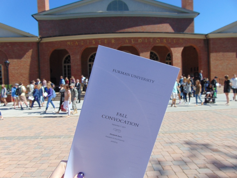Convocation marked the 191st year Furman University has been open.